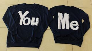 Jual Online Sweater You Me Navy Murah Jakarta Bahan Babytery Terbaru