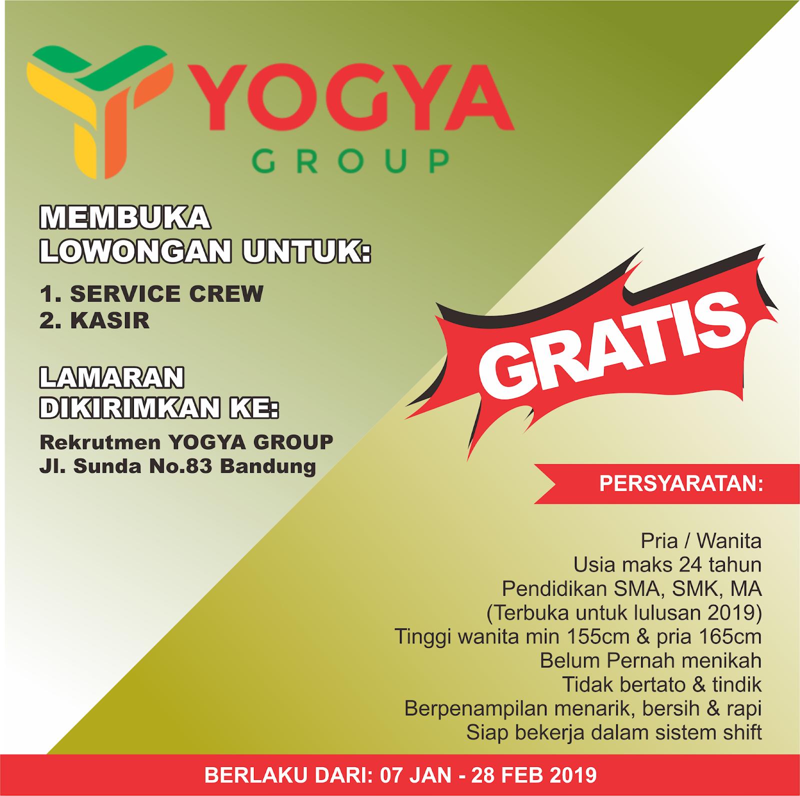Lowongan Kerja Toserba Yogya Bandung Januari 2019 Lowongan Kerja Terbaru Tahun 2020 Informasi Rekrutmen Cpns Pppk 2020