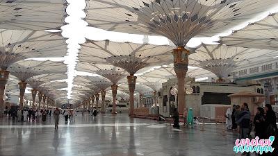masjid nabawi, raudhoh di masjid nabawi,hotel mukhtara international, lapanga terbang di madinah, ziarah madinah