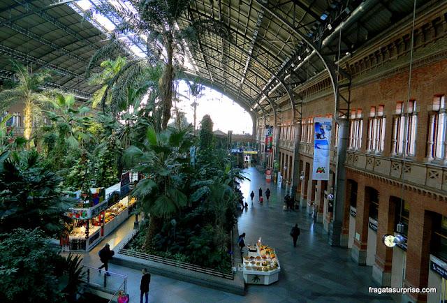 Estação de Atocha, Madri, de onde partem os trens rápidos para Toledo
