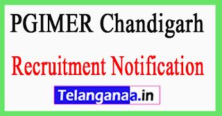PGIMER Postgraduate Institute of Medical Education Research Recruitment Notification 2017