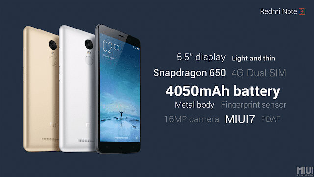 features of Redmi Note 3, price