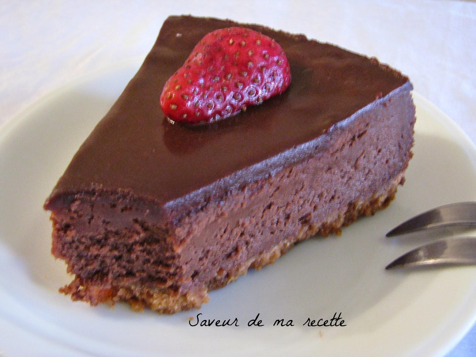 saveur de ma recette cheesecake au chocolat. Black Bedroom Furniture Sets. Home Design Ideas