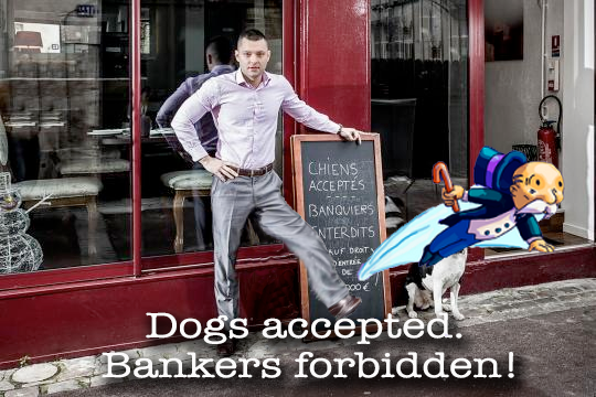 French Restaurant Bans Bankers For Denying Owner Loan  No-bankers-served