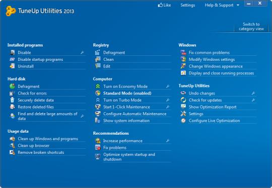 mode test windows 7