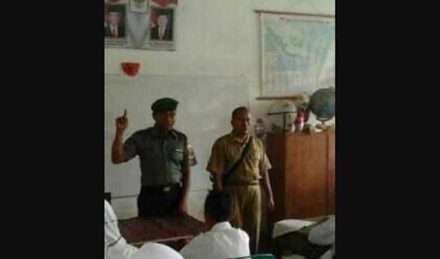 Penyuluhan Bahaya Narkoba Oleh Babinsa di SMPN 1 Kelurahan Labuhan Bilik