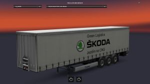 Krone Skoda Green Logistics Trailer