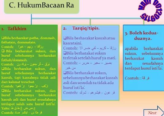 Pengertian, Cara Membaca dan Contoh Bacaan Ra' Tafkhim