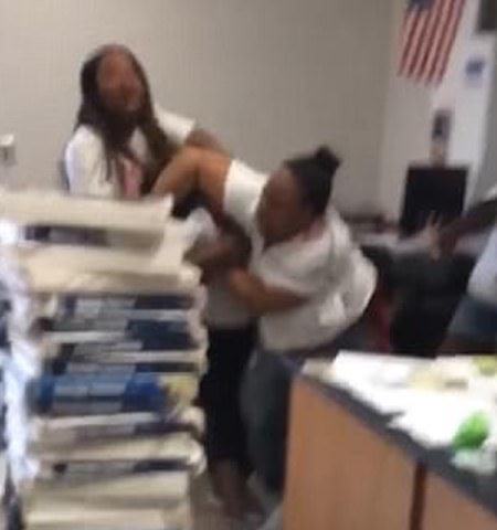 Serious Drama as Female Teachers Fight Inside the Classroom Over a Man (Photos)