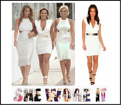 Cap Sleeve, Cross Over Front, Dress, Mini Dress, Missguided, Sam Faiers, Structured, Tailored, The Only Way Is Essex, TOWIE, V-Neck, White,