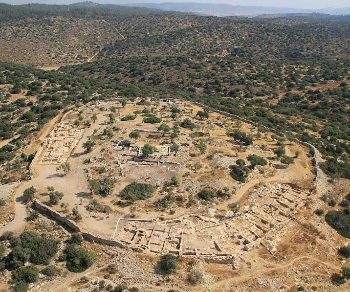As ruínas de Khirbet Qeiyafa são do tempo de Davi.
