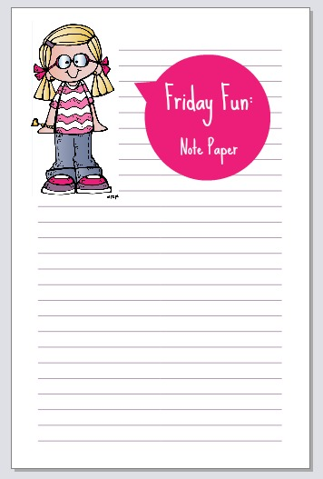 Friday Fun Notepaper for Lists or Journaling printable ~ Planner Fun
