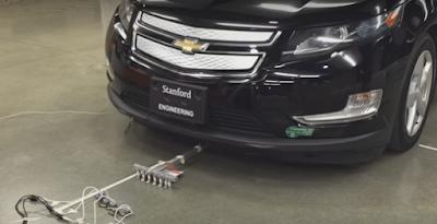 Μικρό ρομπότ τραβάνε ένα αυτοκίνητο