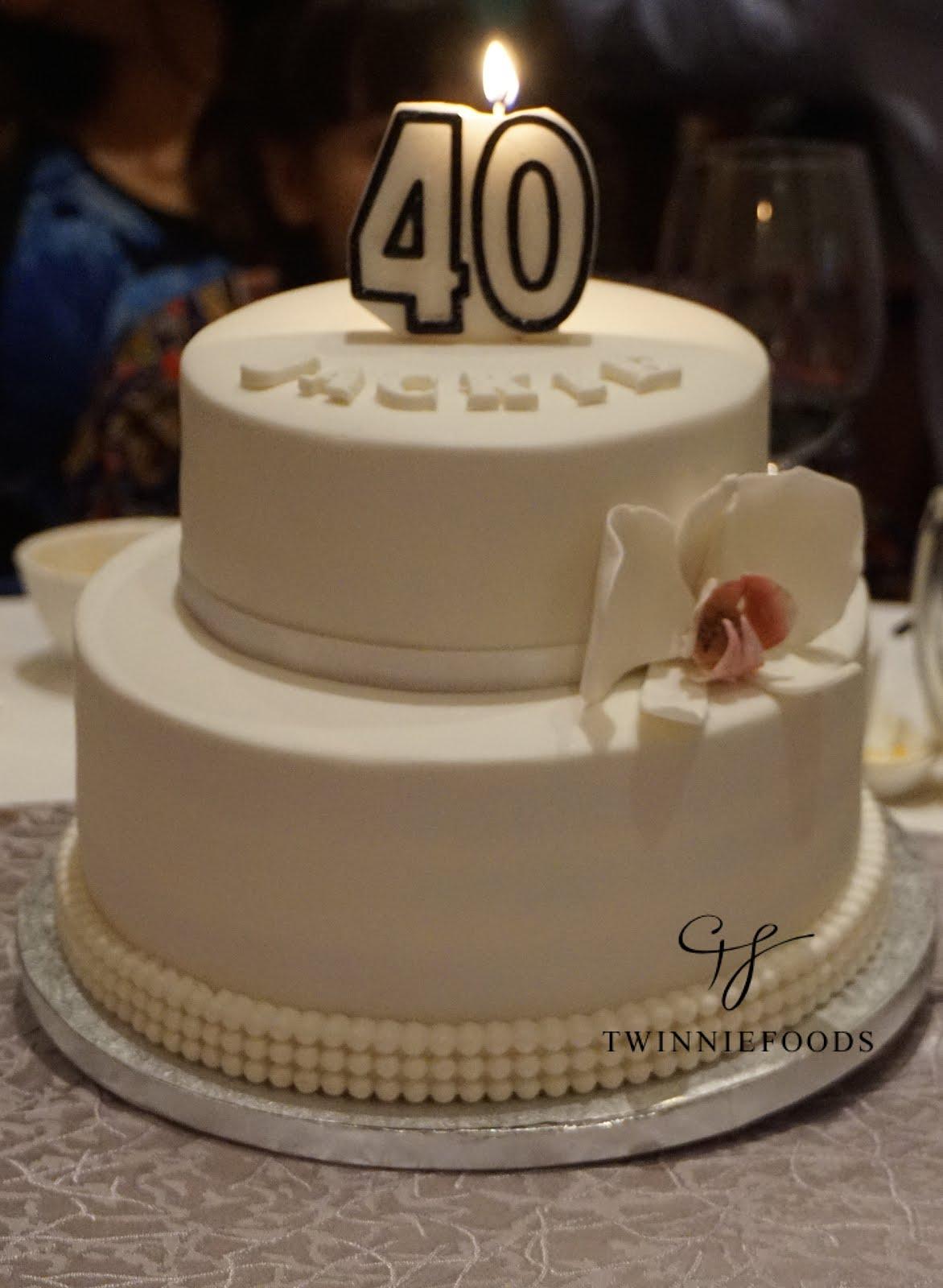 Elegant 40th Birthday Cake