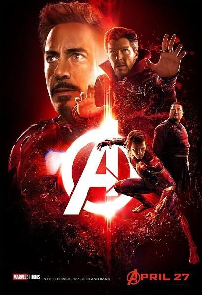 Avengers: Infinity War Iron-Man - Doctor Strange - Spider-Man - Wong