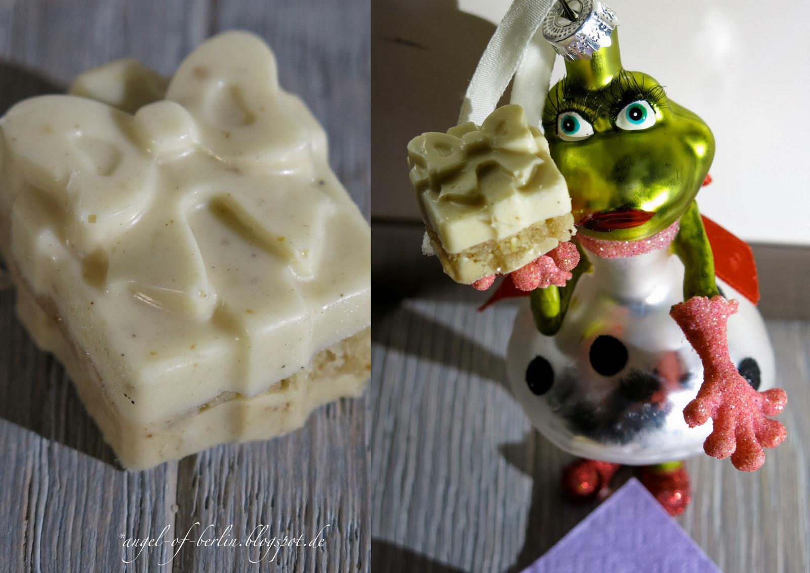 Chai-Weiße-Schokolade-Pralinen in Form von kleinen Geschenken