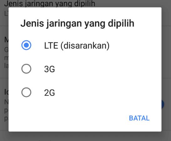Pengaturan sinyal telkomsel