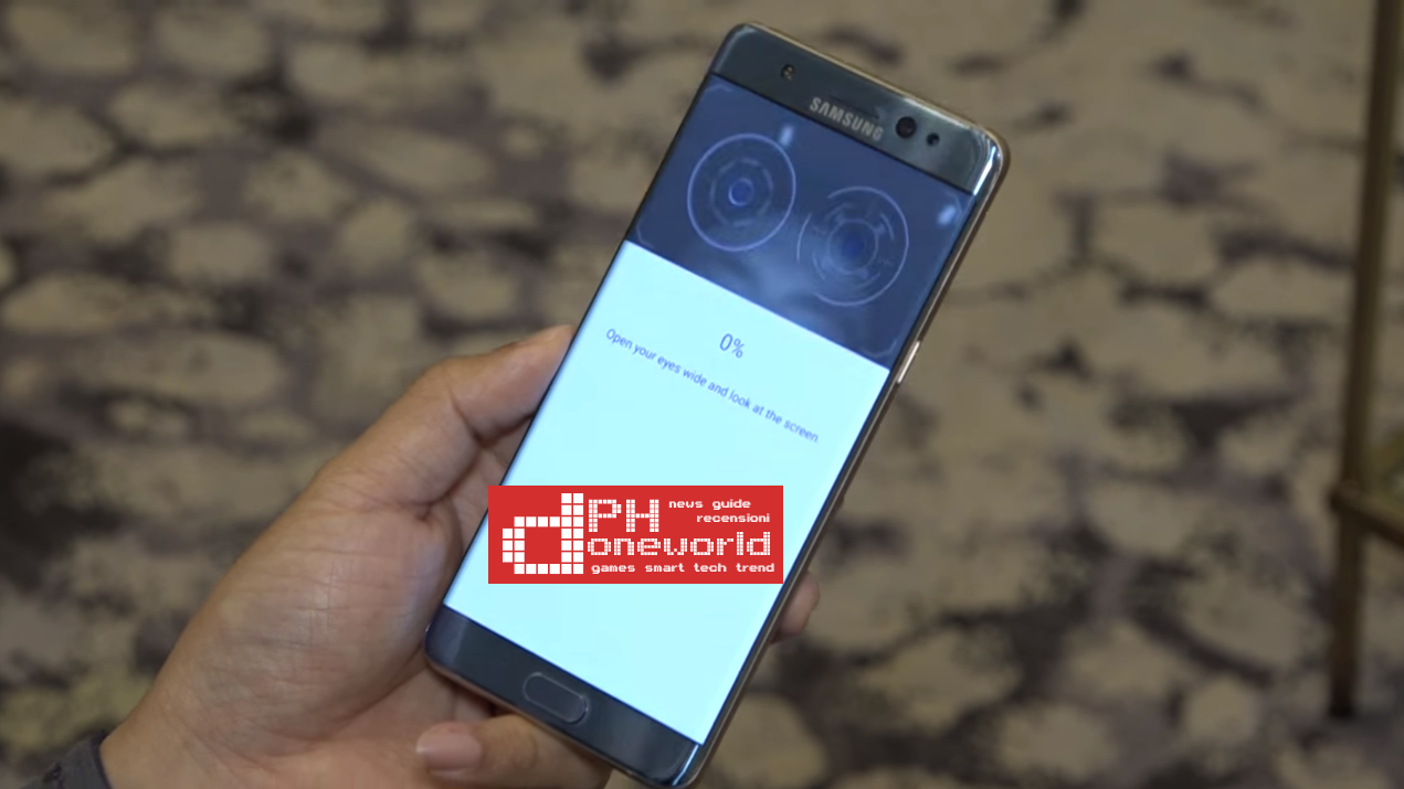 Samsung Galaxy Note 7 | Come funziona scanner dell'Iride