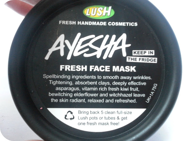 A picture of Lush Ayesha Fresh Face Mask