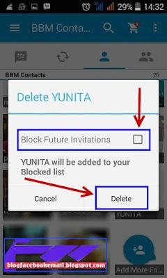 cara hapus + blokir  kontak BBM dengan sangat mudah