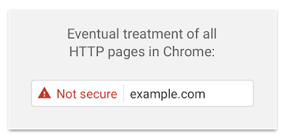 Google Chrome Non-Secure display