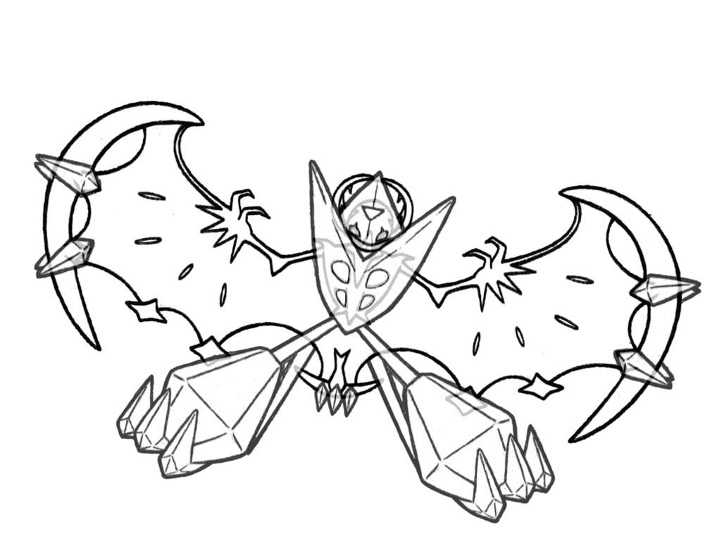 Dawn Wings Necrozma Coloring Page