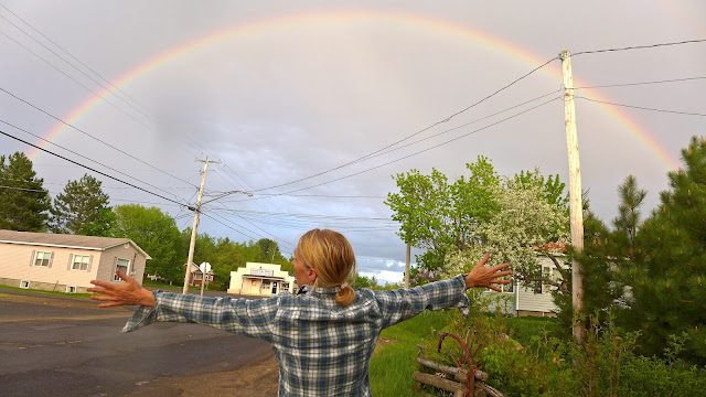 Helene Hugging a Rainbow - photo by Peter Evanchuck