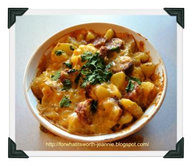 easy cheesy potato sausage casserole