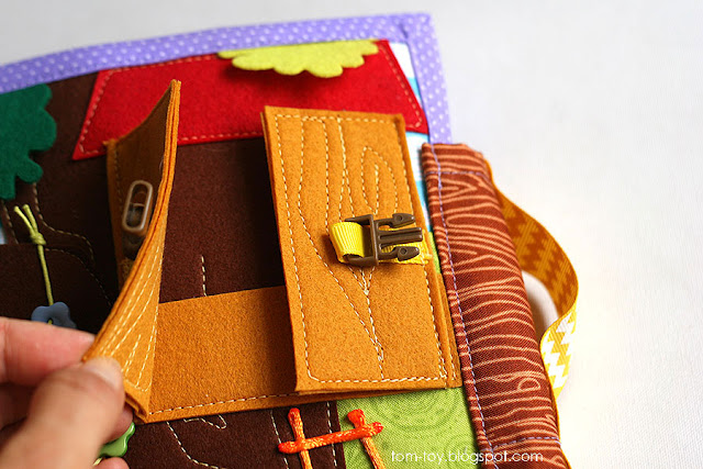 Handmade quiet book Dollhouse, busy book for girl, Развивающая книжка Кукольный домик