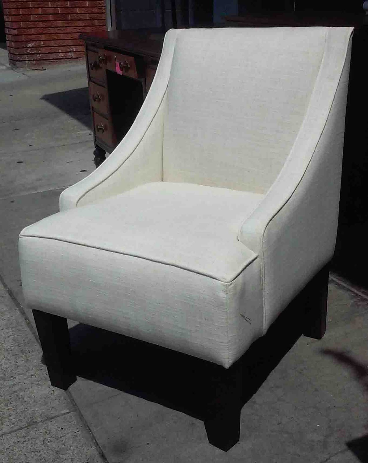 white linen chair target outdoor folding lawn chairs uhuru furniture and collectibles sold 80