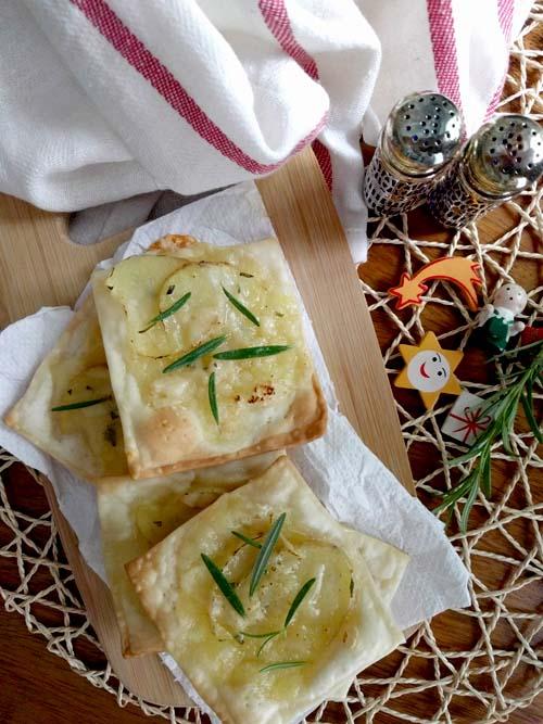 tarteletas de papa y quesos