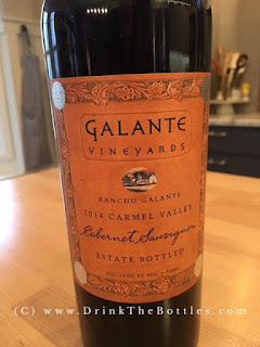 2014 Galante Vineyards Rancho Galante Cabernet Sauvignon Label