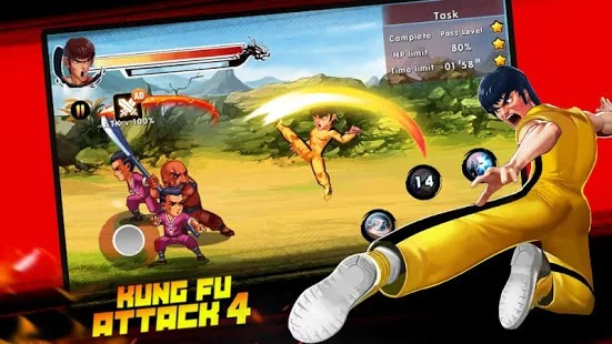 Kung Fu Attack 4 Apk Free on Android Game Download