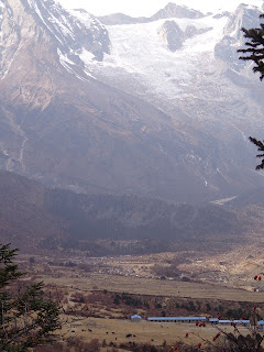 Best views of the Samagaon in the Manaslu trekking Nepal.