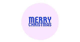 White and blue colour Merry Christmas png free download