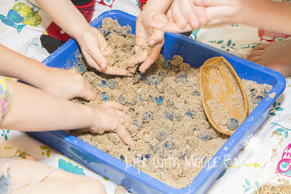 Pirate Sensory Bin is even fun after the treasure is uncovered