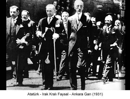 Atatürk Irak Kralı Faysal 1931 Fotoğraf
