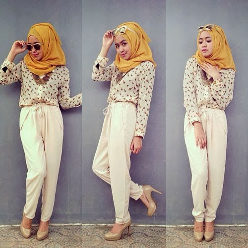 Model baju islamic remaja hobi jalan-jalan