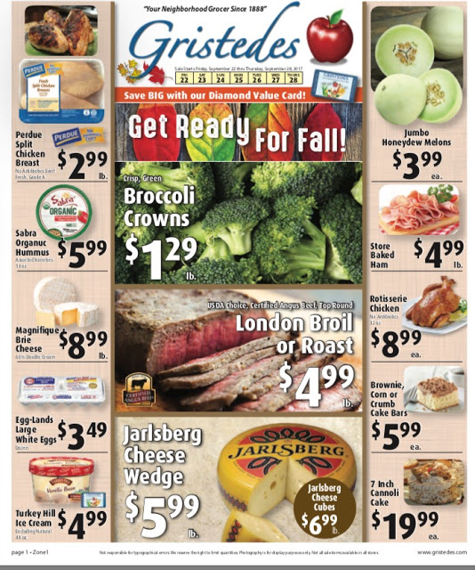 CHECK OUT ROOSEVELT ISLAND GRISTEDES SALES & SPECIALS September 22- October 5
