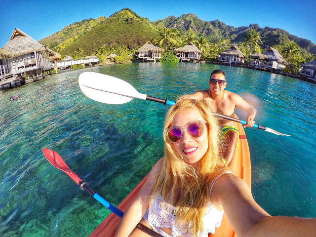 Kayaking in Moorea