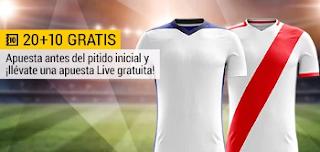 bwin promocion 10 euros Zaragoza vs Rayo 11 noviembre