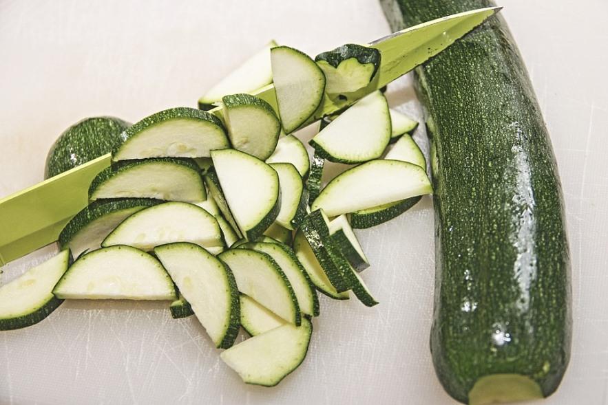 Zucchini Slices and Zucchini Pixibay Image Showing Cutting Zucchini for Zucchini Pasta