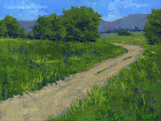 landscape painting rural open land nature road outdoors