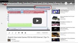 Panduan Menampilkan Tombol Download IDM Di Youtube
