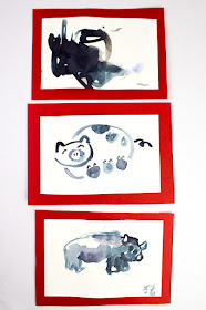 Chinese New Year Pig Watercolor Paintings- Such a fun art project to try with kids of all ages!