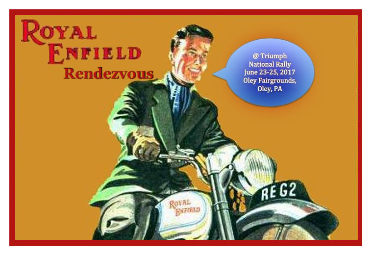 Royal Enfield Rendezvous dates.