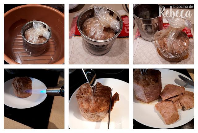 Receta de doner kebab casero: trinchado de la carne