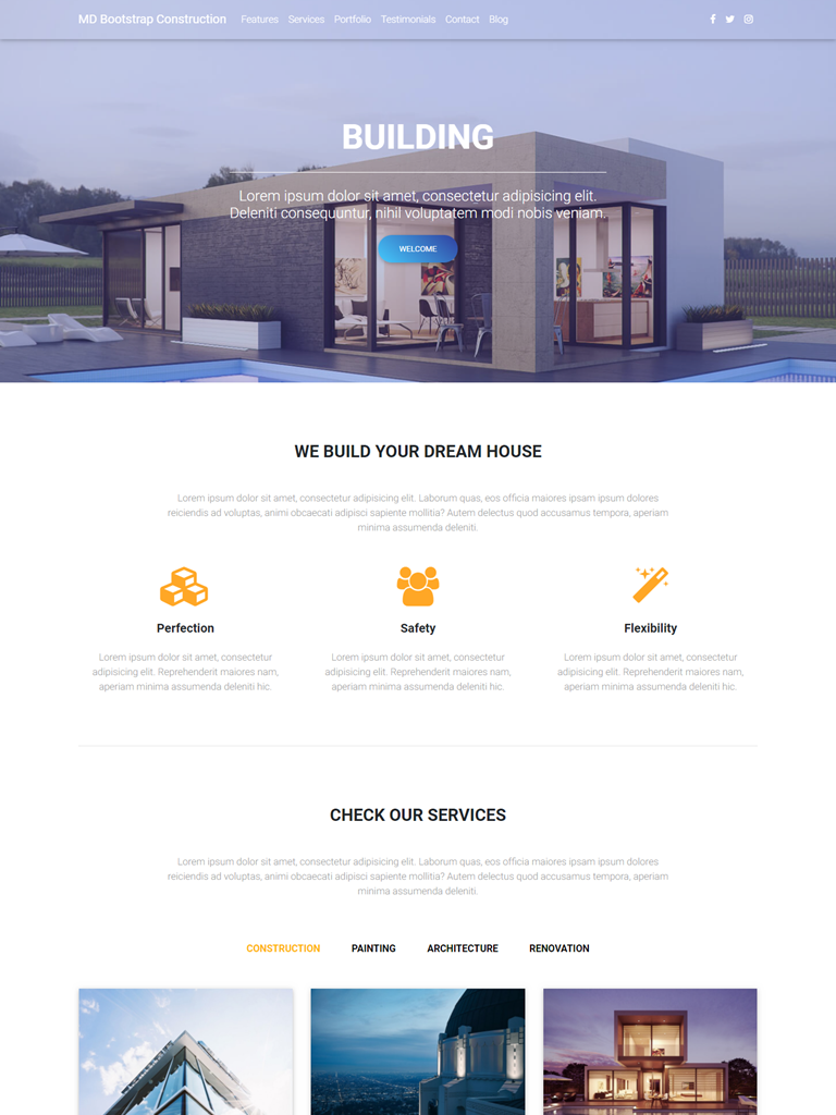 Landing Page Công ty kiến trúc xây dựng