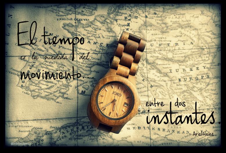 El tiempo es la medida del movimiento entre dos instantes - Aristóteles citas quotes Frases célebres tiempo Jord Watch