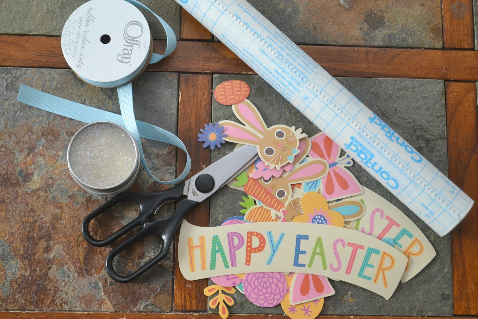 Contact paper for crafts subway art with the silhouette cameo and easter placemat craft for kids easter craft for kids easter placemat diy easter materials needed contact paper with contact paper for crafts jeuxipadfo Image collections